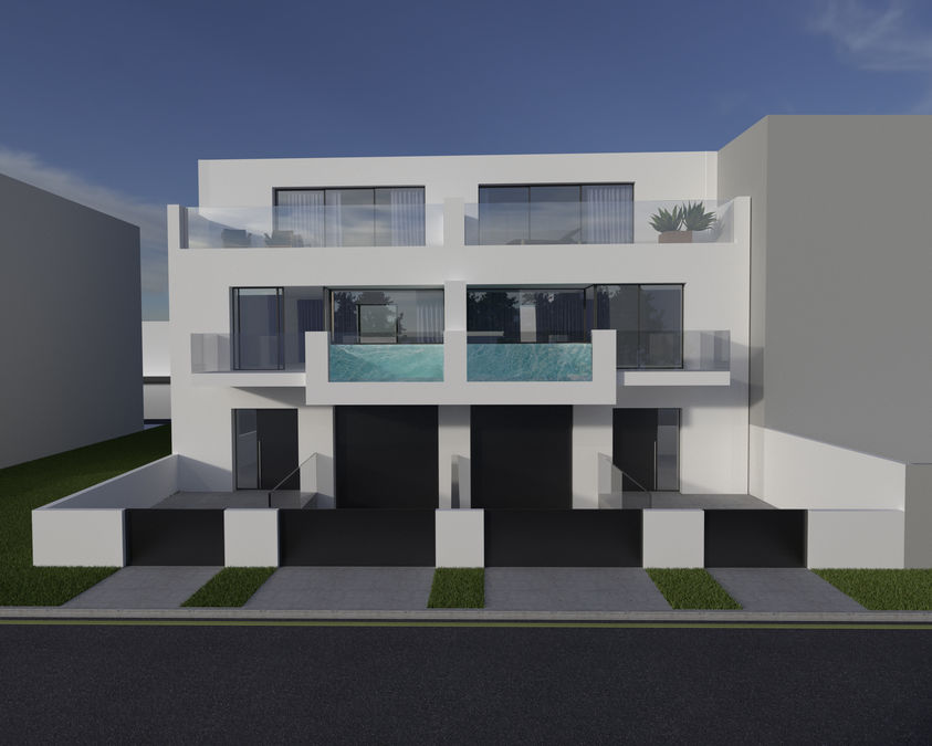 Empuriabrava new construction house with 17x4 mooring for sailboats, boat flybridge